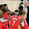 Three Players Ejected after Brawl Breaks Out During the Rockets and Lakers Face-Off