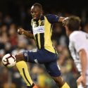 Usain Bolt Put Away Two Goals in His First Full Football Match